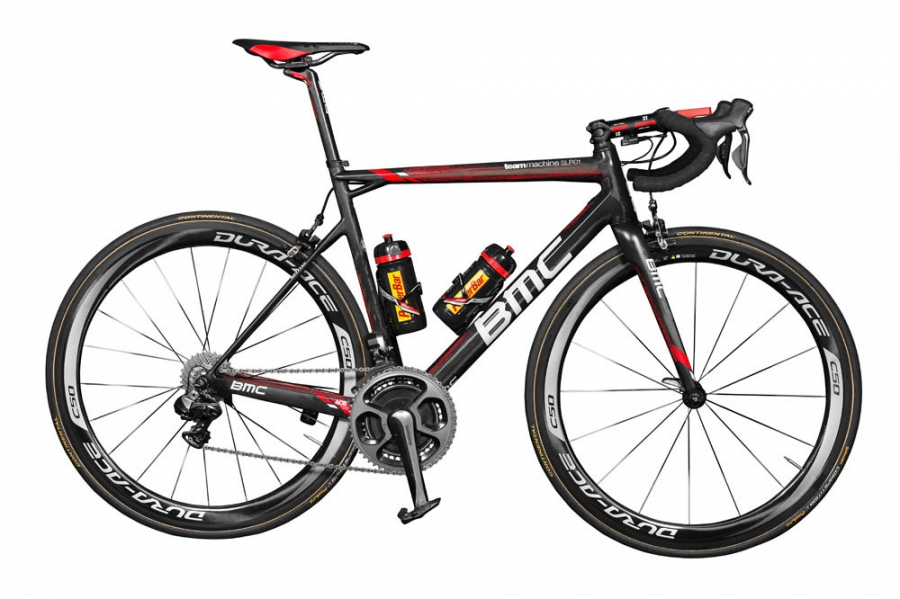 De BMC  van Brent Bookwalter van BMC Racing Team 2015